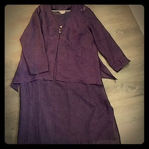 K Woman purple embroiled dress with jacket